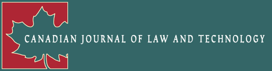 Canadian Journal of Law and Technology